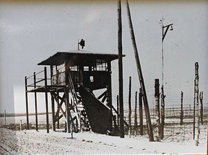 English: watchtower in Stalag IV-B Deutsch: Wa...