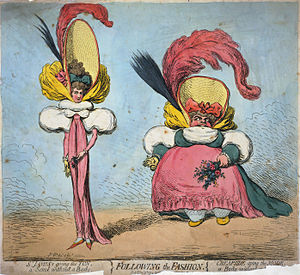 In Following the Fashion (1794), James Gillray...