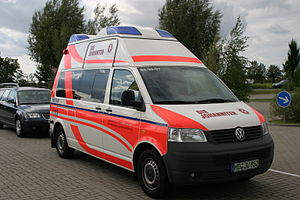 English: A vehicle of the German Emergency Med...