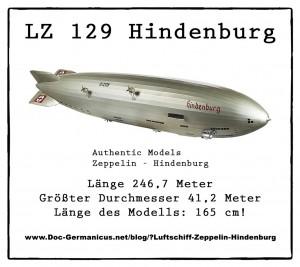 "Authentic Models Zeppelin – 165cm Luftschiff ""Hindenburg 1937″"