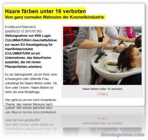 GEFAHR BEIM HAARE FÄRBEN!