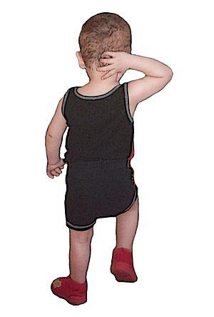 Deutsch: Kind beim Laufen