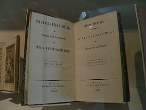 """Deutsch: Werk """"Vom Kriege"""" von Carl ..."""