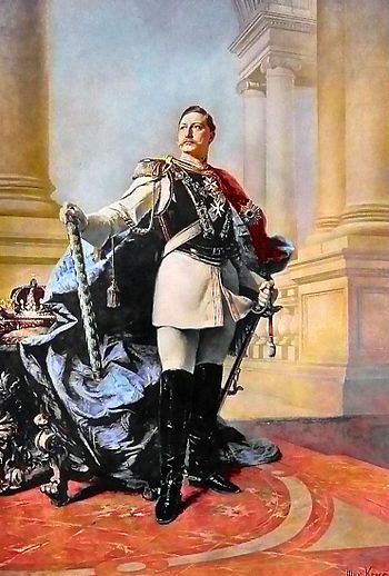 Wilhelm II, German Emperor. Oil painting by Ma...