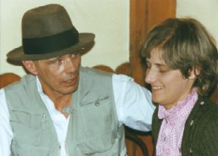 Joseph Beuys with Petra Kelly. Photographed by...