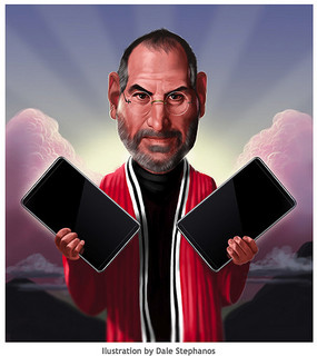 "Steve ""Moses ""Jobs Delivers Tablet"
