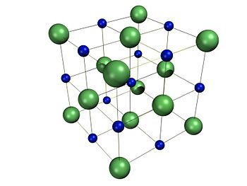 Crystal Structure of sodium chloride (NaCl).
