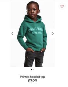 Kindermodel: User entsetzt über Hoodie-Werbung (Foto: twitter.com/hsyn_161)